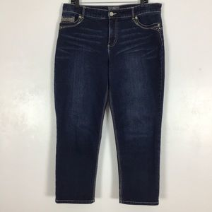 Chicos So Lifting Slimming Ankle Jeans Dark Wash